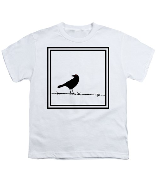 The Black Crow Knows T-shirt Youth T-Shirt by Edward Fielding