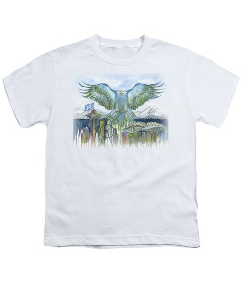 The Blue And Green Youth T-Shirt by Julie Senf