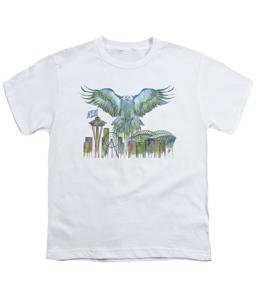 The Blue And Green Overlay Youth T-Shirt by Julie Senf