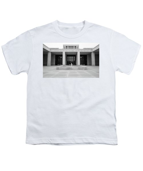 The George W. Bush Presidential Library And Museum  Youth T-Shirt by Robert Bellomy