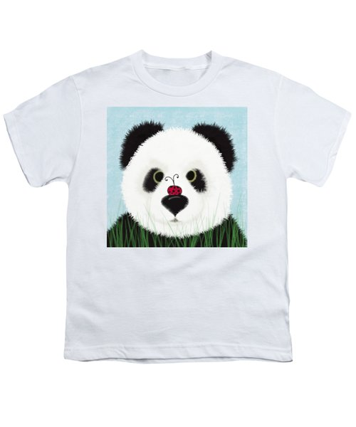 The Panda And His Visitor  Youth T-Shirt by Michelle Brenmark