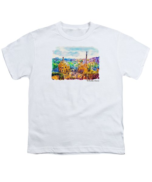 Park Guell Barcelona Youth T-Shirt by Marian Voicu