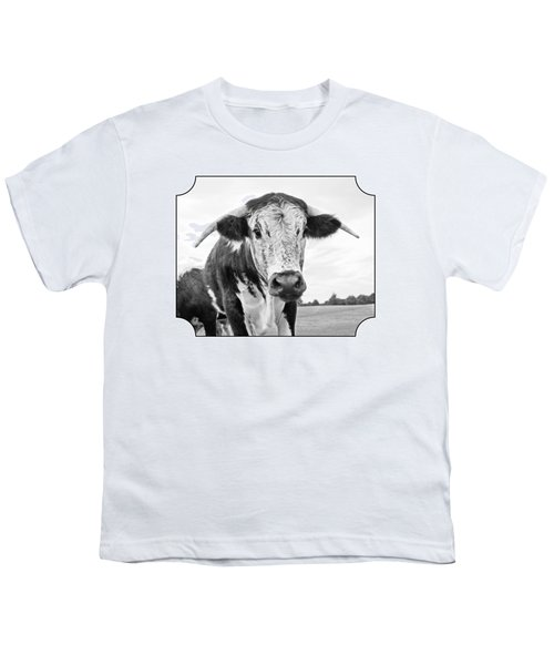 This Is My Field - Black And White Youth T-Shirt by Gill Billington