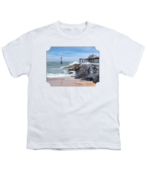 Tide's Turning - Southwold Pier Youth T-Shirt by Gill Billington