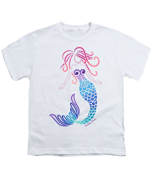 Tribal Mermaid Youth T-Shirt by Heather Schaefer