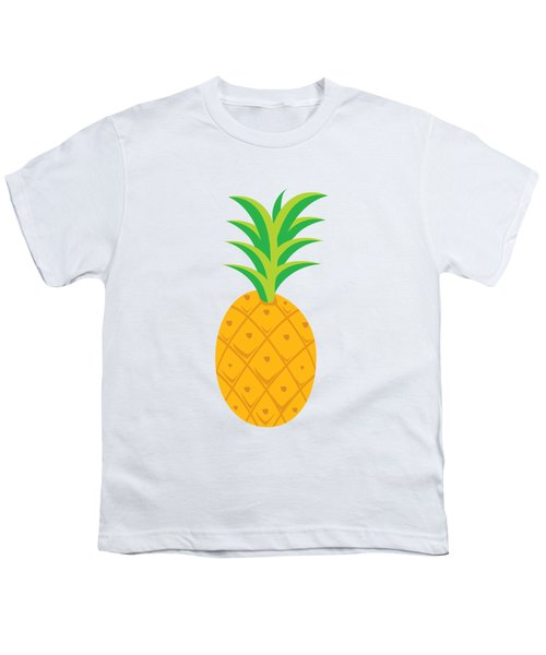 Tropical Fruits Ananas Pineapple Youth T-Shirt by MGdezigns