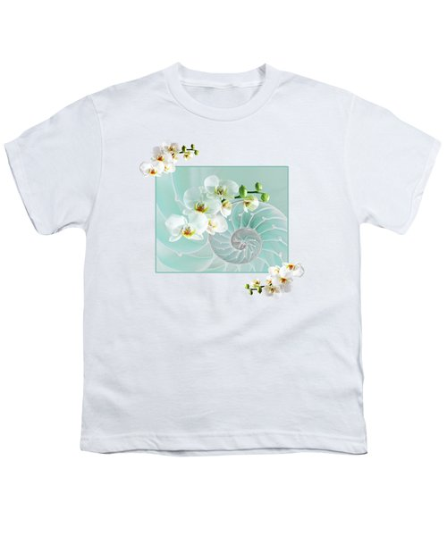 Turquoise Fusion Youth T-Shirt by Gill Billington