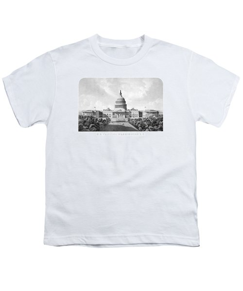 Us Capitol Building - Washington Dc Youth T-Shirt by War Is Hell Store