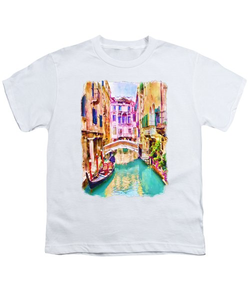 Venice Canal 2 Youth T-Shirt by Marian Voicu