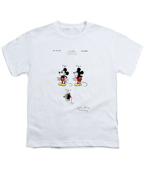 Vintage 1930 Mickey Mouse Patent Youth T-Shirt by Bill Cannon
