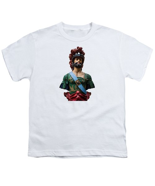 Vintage Ships Bust Youth T-Shirt by Martin Newman