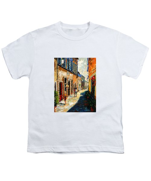 Warmth Of A Barcelona Street Youth T-Shirt by Andre Dluhos