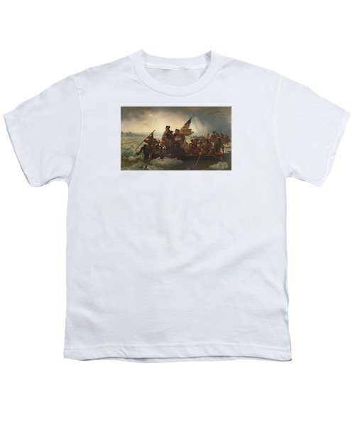 Washington Crossing The Delaware Youth T-Shirt by War Is Hell Store