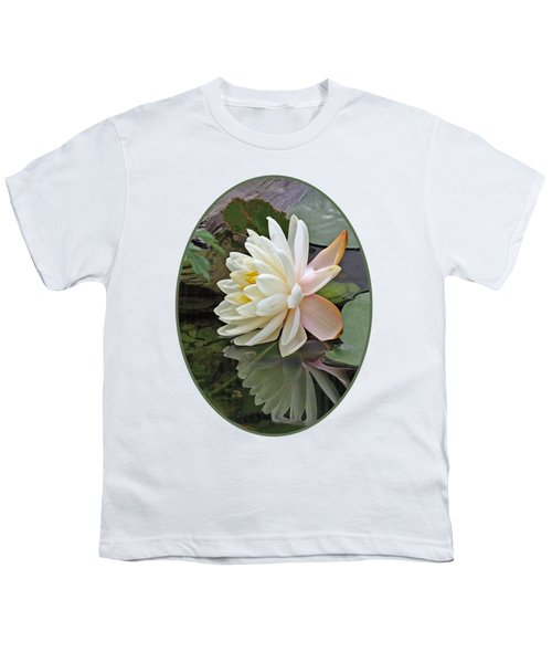Water Lily Reflections Youth T-Shirt by Gill Billington