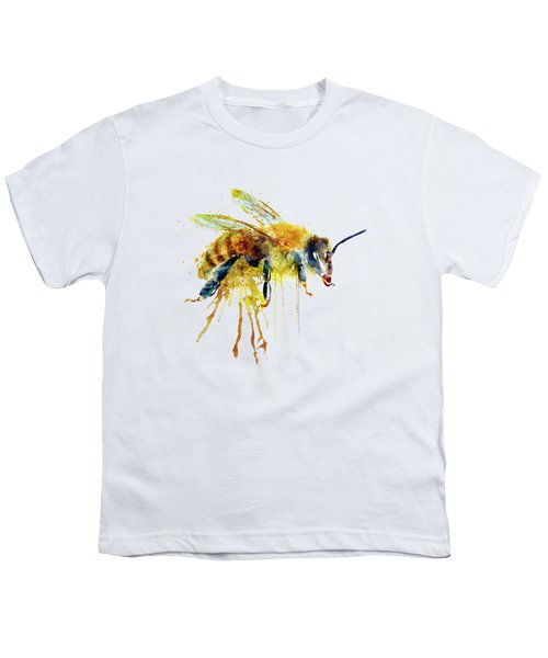Watercolor Bee Youth T-Shirt by Marian Voicu