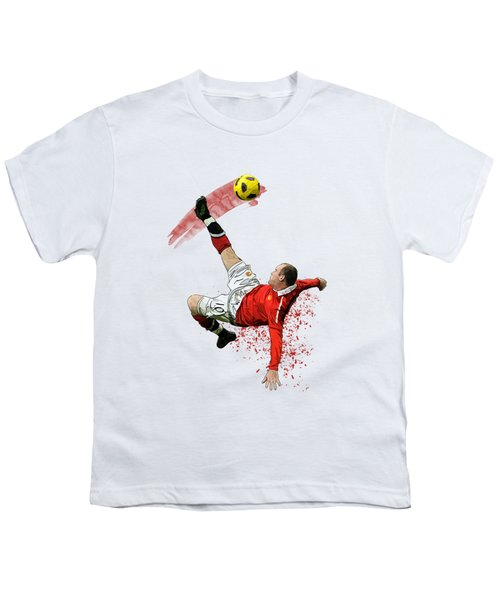 Wayne Rooney Youth T-Shirt by Armaan Sandhu