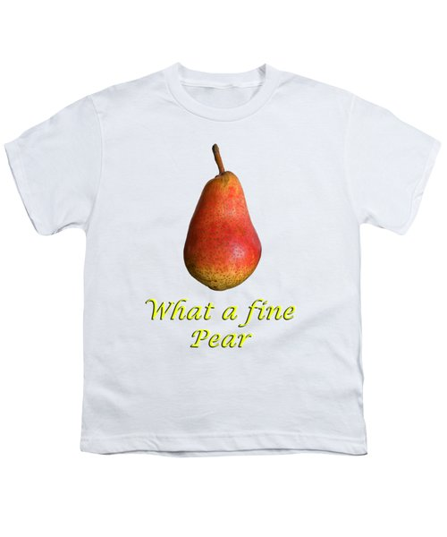 What A Fine Pear Youth T-Shirt by Gillian Singleton