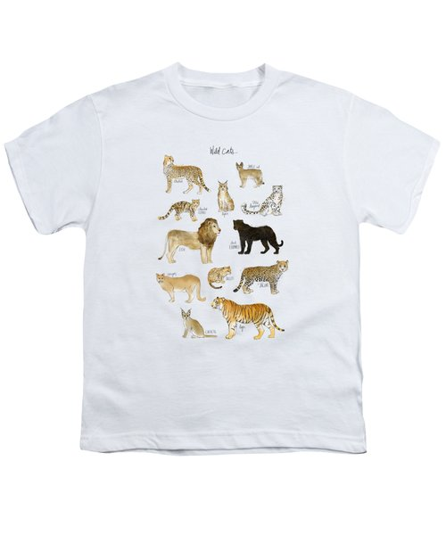 Wild Cats Youth T-Shirt by Amy Hamilton