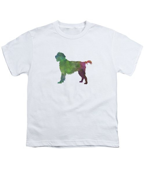 Wirehaired Pointing Griffon Korthals In Watercolor Youth T-Shirt by Pablo Romero