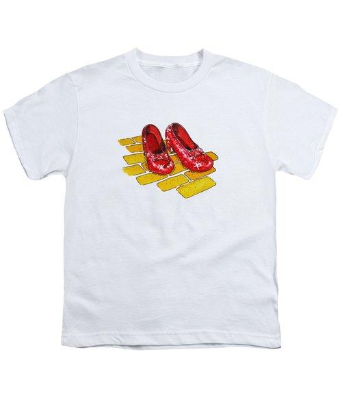 Wizard Of Oz Ruby Slippers Youth T-Shirt by Irina Sztukowski
