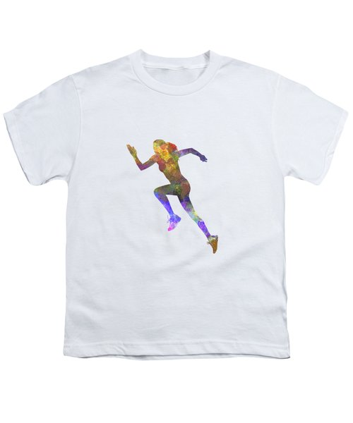 Woman Runner Running Jogger Jogging Silhouette 03 Youth T-Shirt by Pablo Romero