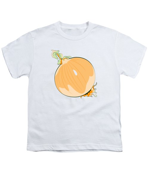Yellow Onion Youth T-Shirt by MM Anderson