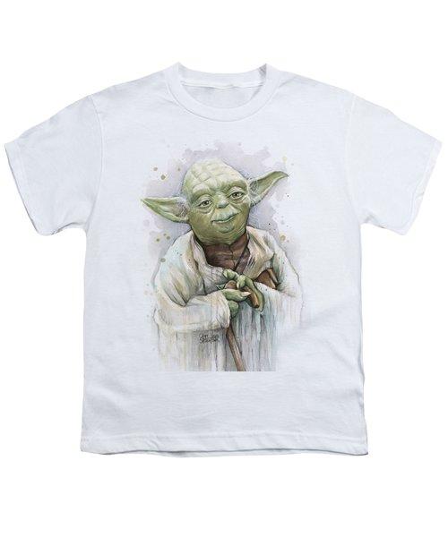 Yoda Youth T-Shirt by Olga Shvartsur