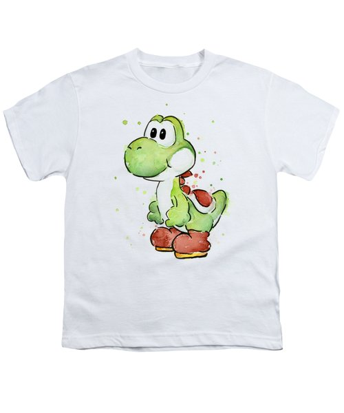 Yoshi Watercolor Youth T-Shirt by Olga Shvartsur
