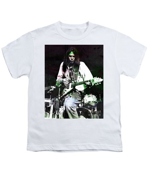Young Neil Youth T-Shirt by John Malone