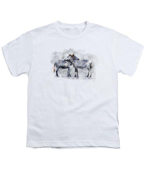 Zebras Youth T-Shirt by Marlene Watson