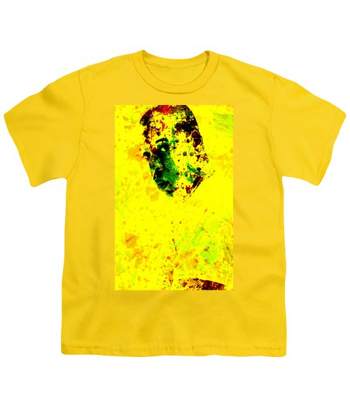 Jay Z Paint Splash Youth T-Shirt by Brian Reaves