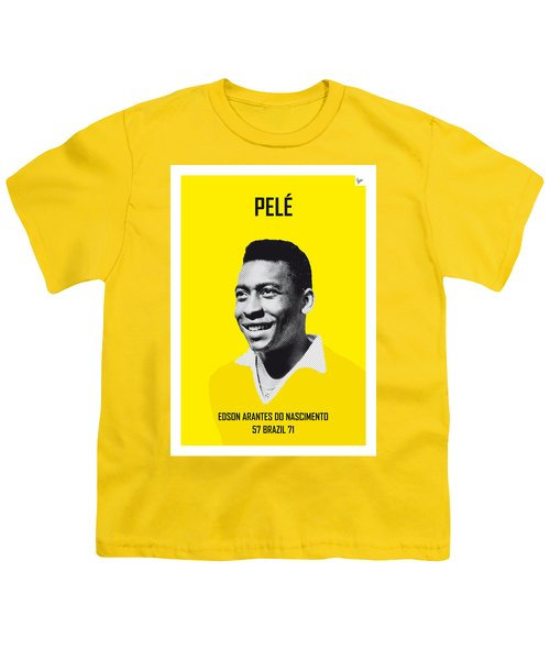 My Pele Soccer Legend Poster Youth T-Shirt by Chungkong Art