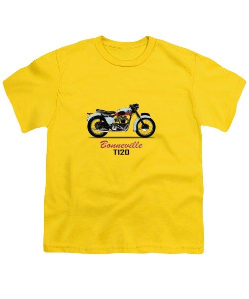 1959 T120 Bonneville Youth T-Shirt by Mark Rogan