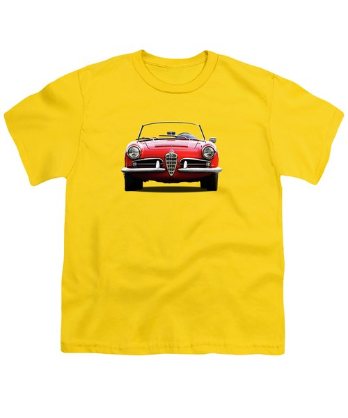 Alfa Romeo Spider Youth T-Shirt by Mark Rogan