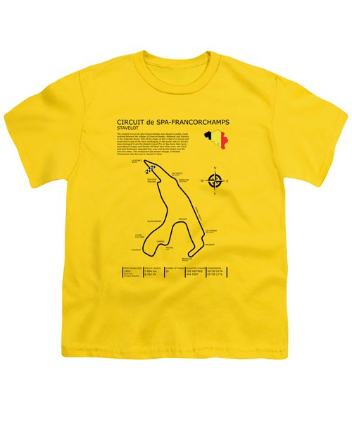 Spa Francorchamps Youth T-Shirt by Mark Rogan