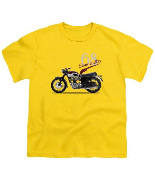 Triumph Bonneville T120 1968 Youth T-Shirt by Mark Rogan