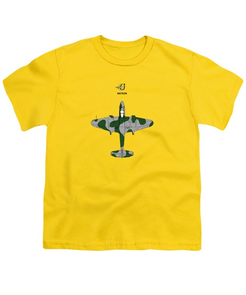 Gloster Meteor Youth T-Shirt by Mark Rogan