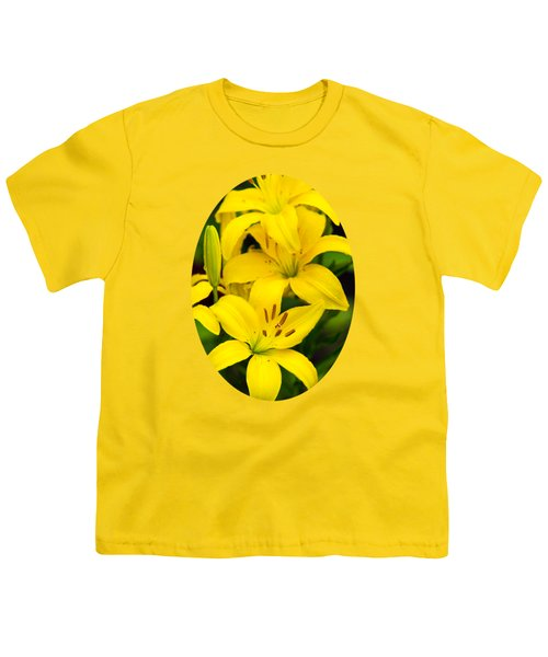 Yellow Lilies Youth T-Shirt by Christina Rollo