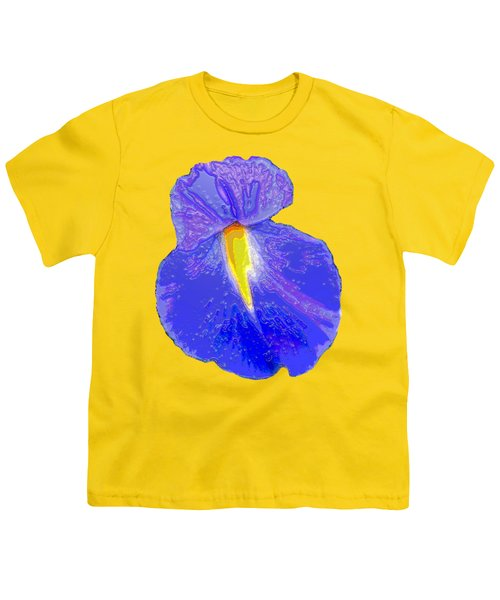 Big Mouth Iris Youth T-Shirt by Marian Bell