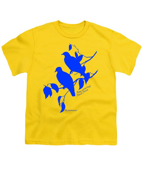 Blue Doves Youth T-Shirt by The one eyed Raven