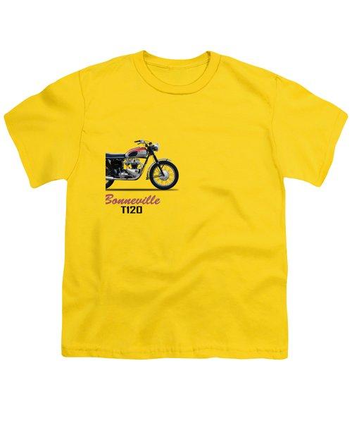 Bonneville T120 1962 Youth T-Shirt by Mark Rogan