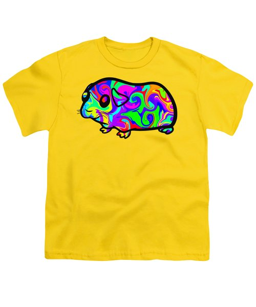 Colorful Guinea Pig Youth T-Shirt by Chris Butler