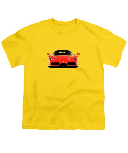 Ferrari Enzo Ferrari Youth T-Shirt by Mark Rogan