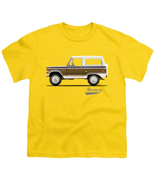 Ford Bronco Ranger 1976 Youth T-Shirt by Mark Rogan