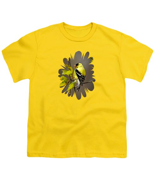Goldfinch Suspended In Song Youth T-Shirt by Christina Rollo