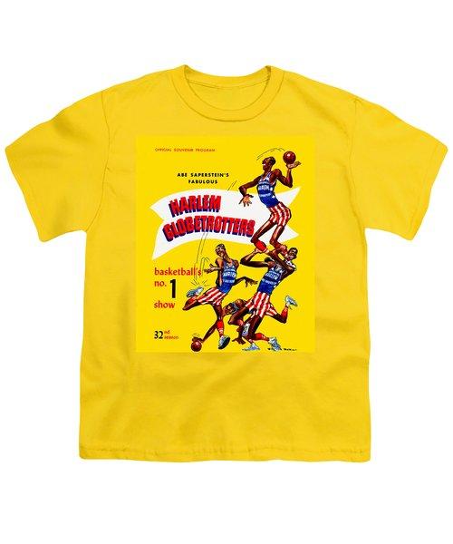 Harlem Globetrotters Vintage Program 32nd Season Youth T-Shirt by Big 88 Artworks