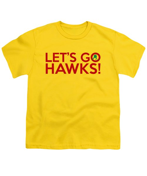 Let's Go Hawks Youth T-Shirt by Florian Rodarte