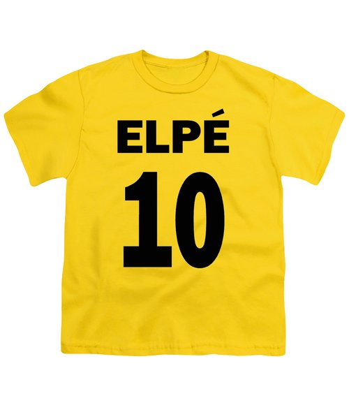 Pele 10 Youth T-Shirt by Charlie Ross