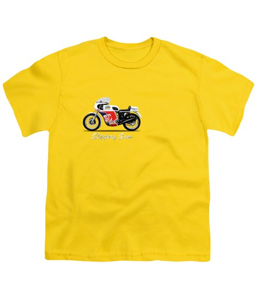 Slippery Sam Production Racer Youth T-Shirt by Mark Rogan