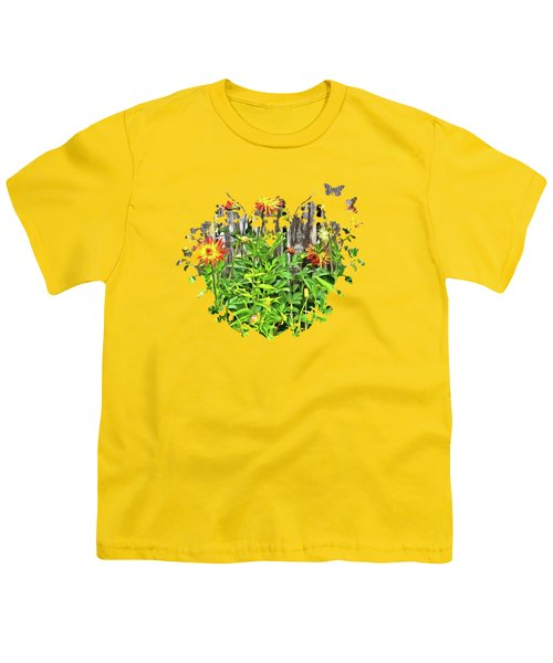 The Flowers Along The Fence  Youth T-Shirt by Thom Zehrfeld